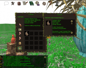 Leaky Treebark Flask crafted in Eulora by Boxy Boxster.
