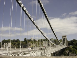 Podul suspendat de la Bristol (Clifton Suspension Bridge) proiectat de Isambard Kingdom Brunel