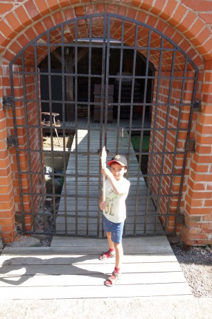 Defender of the castle's gate (in summer garb).