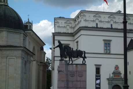 The horse pushing Gediminas down from his monument.